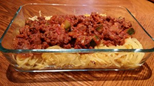 spaghetti squash with bolognese sauce